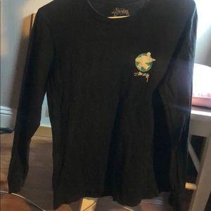 Stussy Classic Black Long Sleeve Shirt